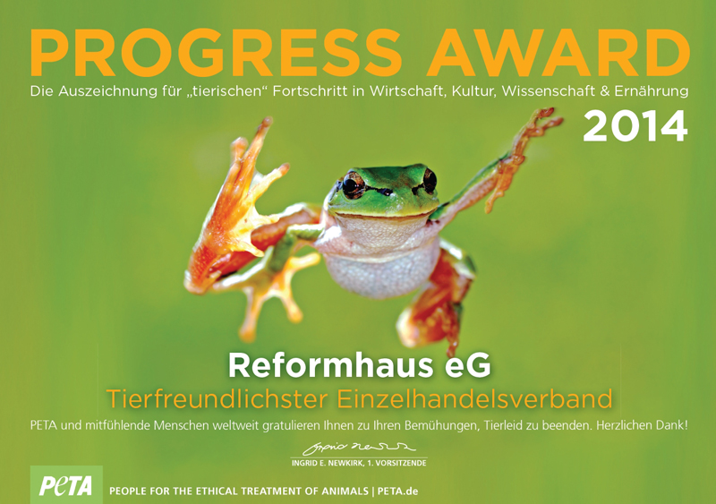 PETA - Progress Award Reformhaus